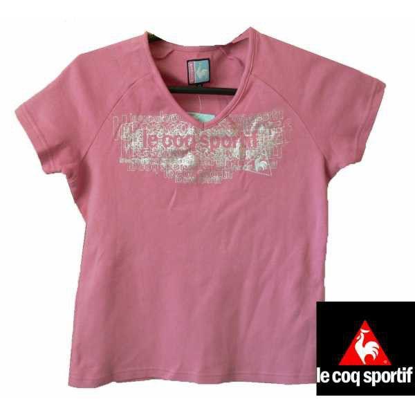 Памучна розова блузка с къс ръкав Le coq sportif , М разме